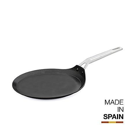 Induction Ready Black//Brown Valira Aire Reinforced Non-Stick Scratch Resistant Cast Aluminum Mediterranean Casserole Pan with Glass Lid 3.5-Quart 11-Inch Diameter