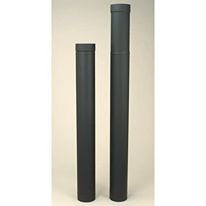 Exceptionnel 6u0026quot; HeatFab 38u0026quot; To 70u0026quot; Adjustable Black Stovepipe ...