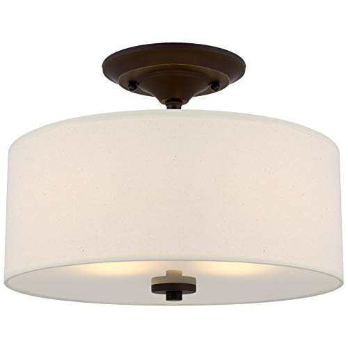 "Kira Home Addison 13"" 2-Light Semi-Flush Mount"