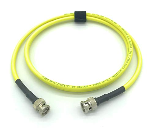 100ft AV-Cables 3G/6G HD SDI BNC Cable Belden 1505A RG59 - Yellow (100ft) ()
