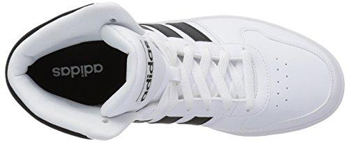 Homme Mid Noir Blanc Hoops Montantes Baskets 2 0 adidas BZw1qAt