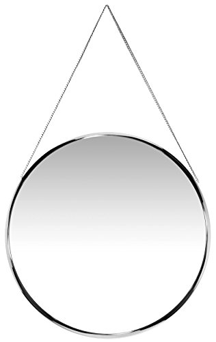 Infinity Instruments Circle Modern Mirror, Silver (Mirrors Silver Round)