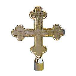 Botonee Cross Top Ornament 6-3/4 Inch no Adapter Gold (Cross Botonee)