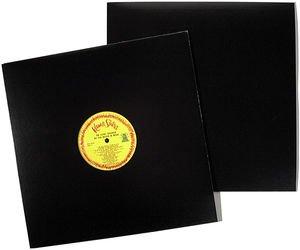 SLPJK 12 Black Cardboard LP Jacket-No Hole Bags Unlimited