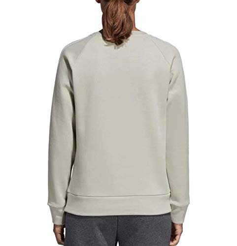 adidas Women's Essentials 3-Stripes Crewneck Sweatshirt (S, Ash Silver) by adidas (Image #1)
