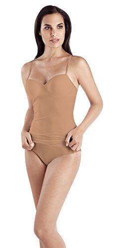 HANRO Women's Allure Bra Camisole, Nude, 38C (Underwire Sleepwear Padded)