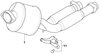 BMW Genuine Exhaust System Suspension Support Bracket E36 18301737003