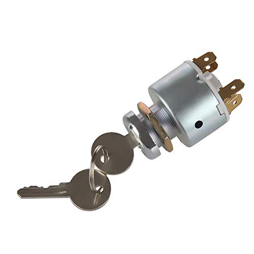 MIDIYA 31973K4183 Waterproof Ignition Starter Switch With 3Position 5 Terminal Wire 2 Keys For Lucas SPB501 Sierra Ford Widely For Cars, Motorcycles, Boat,Tractor,Trailer,Digger,Agricultura ()