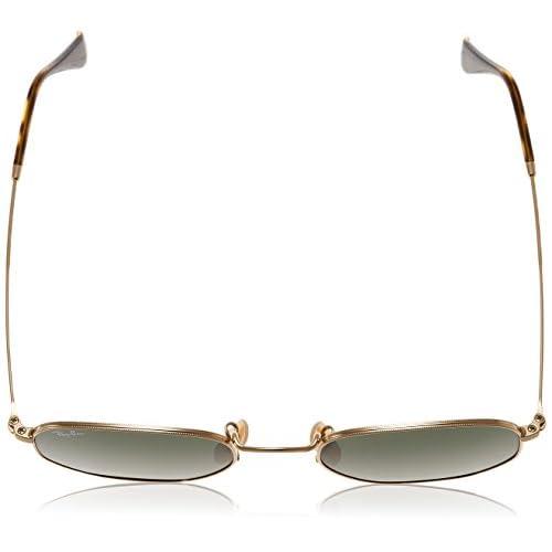 9370aded0 Ray-Ban Gafas de sol de lente plana hexagonal en oro verde RB3548N 001 51