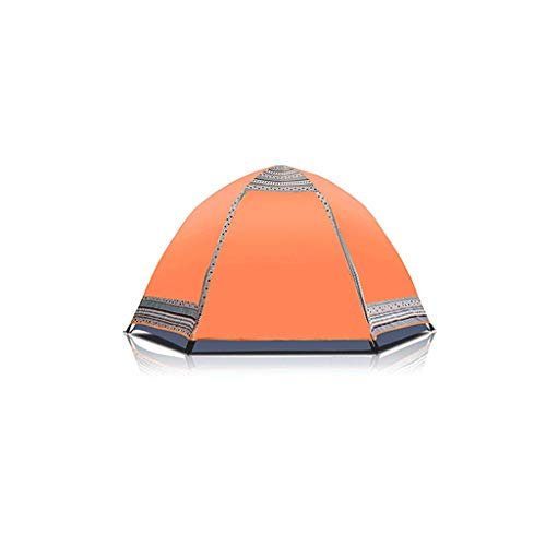 XXW Tent Family Outdoor Travel Mountaineering 3-4 People Camping Tent Thicker Rainproof Hexagonal Yurt Outdoor Tent