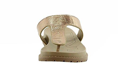 Donna Karan Dkny Dame Shawna Mote Spraket Blek Gull Flip Flops Sandaler Sko  ...
