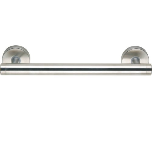 No Drilling Required Draad Premium Stainless Steel Euro Grab Bar/Shower Door Handle in Brushed Stainless Steel ()