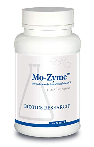 Biotics Research Mo-Zyme TM - Molybdenum 50 mcg, Liver Support, Detoxification, Essential Trace Element, Healthy Metabolism, Antioxidant Support 100 Tablets