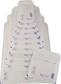 50 x Luftpolsterversandtaschen Weiss - Gr. D / 4 [ 200 x 275 mm ] Luftpolstertaschen Versandtaschen Umschläge
