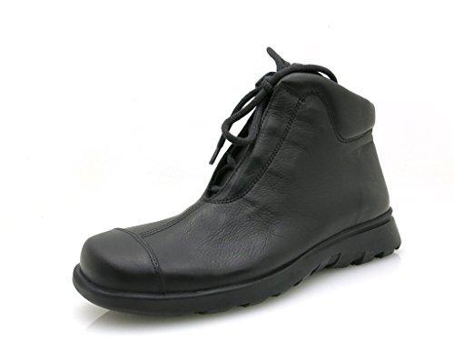 Think! clásico Botas Zapatos piel Mujer Cordones Piel negro Stiefel corto Negro