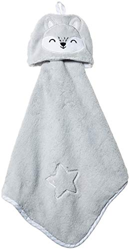 Rene Rofe Baby Baby Newborn Coral Fleece Cuddle Lovey Buddy, Gray/Star, One Size