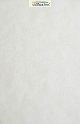 50 Light Gray Parchment 60# Text (=24# Bond) Paper Sheets - 11 X 17 inches Stationery Paper Colored Sheets Tabloid|Ledger Size - 60 Pound is Not Card Weight - Vintage Colored Old Parchment Semblance