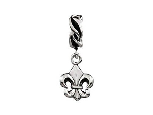 SilveRado Sterling Silver Dangle Fleur De Lys Bead/Charm