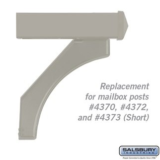 Salsbury Industries 4377D-NIC Arm Kit Replacement for Deluxe Post for 1 Designer Roadside Mailbox, Nickel