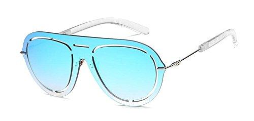 rond de lunettes retro métallique polarisées soleil cercle du en Lennon inspirées Bleu style vintage Glacier 77grxw