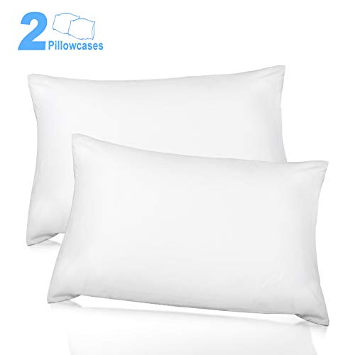 AdorioPower 100% Cotton Queen Pillow Cases, Premium Hypoallergenic Material Pillow Cover, Envelope Closure End, Double-Stitched Pillow Case Protector(Set of 2) by AdorioPower