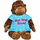 Get Well Soon Plush Gorilla – Monkey with Hospital Gown – Cheer Up Present – Hope you Feel Better – After Surgery – Hospitalization – 15 Inch
