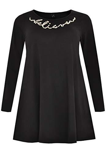 Grande Yoek Avec Noir Taille Tunique Femme Perles CZSwF