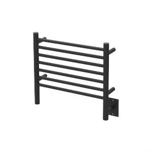 QBC Bundled Amba Heated Towel Warmers - Jeeves - HCMB Model H Straight - Matte Black Finish 20.5 in W x 18 in H - 60 to 80 Watts 0.5 to 0.75 Amps - Plus Free QBC Towel Warmer Guide