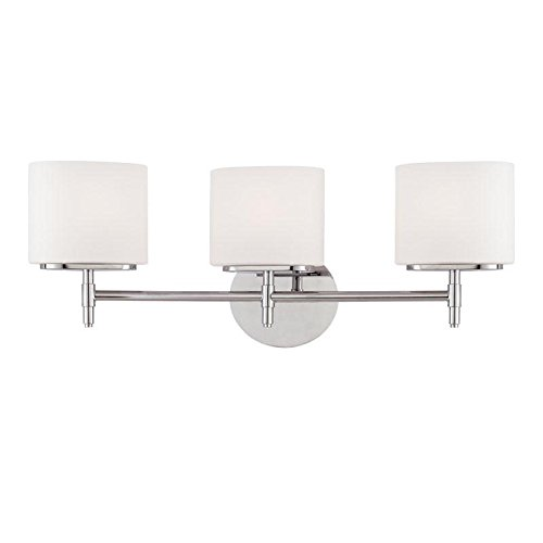 Hudson Valley Lighting 8903-PC Three Light Bath Bracket from The Trinity Collection, 3, Polished Chrome