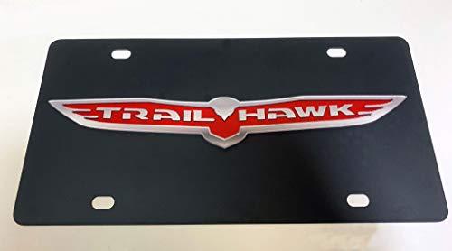Eurosport Daytona, Inc. Carbon Steel License Plate- Trailhawk Badge