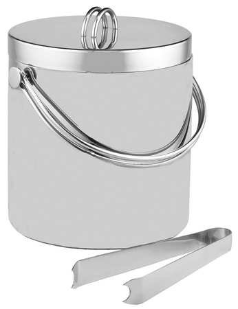 TableCraft Products H303 Double Wall Ice Bucket with Tong Stainless Steel ()