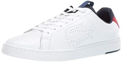 Lacoste Carnaby Evo, Men's Fashion Sneakers, White (White/Navy/Red 407), 43 EU