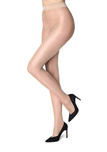 Marilyn Naked Luxe Silky Tights 40 Denier (Nude, M) -