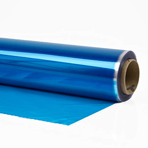 Cellophane Wrap 24″Inch x 100'Ft Blue Mylar Sheet Cellophane Roll Great Wrapping Paper for Craft Basket