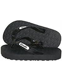 outlet store 617f1 25864 Kids Black with Black Strap Slipper