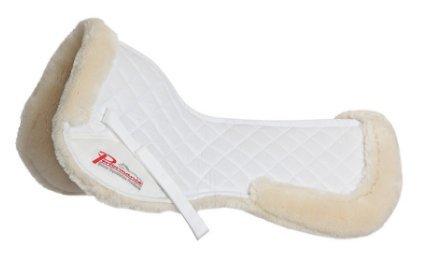 Supafleece Half Saddle Pad, White/White - Full