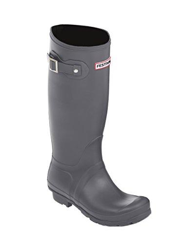 Grey Size Boots Festival 8 Wellies UK Womens Snow Wellington Boots Girls Rain 3 URO8x7qwBO