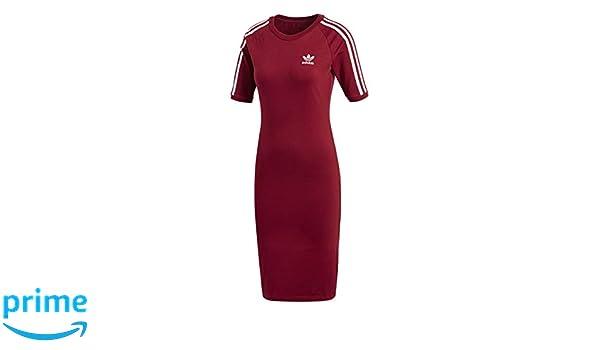 Adidas 3 Stripes Dress Vestido de Tenis, Mujer, Rojo (Buruni), 48: Amazon.es: Deportes y aire libre