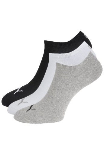 PUMA Sneaker Invisible , Größe:43/46; Farbe:grau/weiß/schwarz; Pack:12er Pack