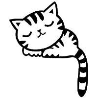 ملصق حائط هرة قطه ستيكر ديكور زر النور او الكهرباء او جرس البيت او اللابتوب او السياره