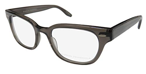 Barton Perreira Squints Mens/Womens Designer Full-rim Popular Style Durable Eyeglasses/Glasses (49-20-145, Transparent ()