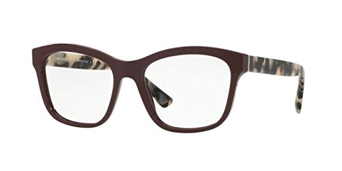 Burberry Women's BE2227 Eyeglasses Bordeaux 52mm