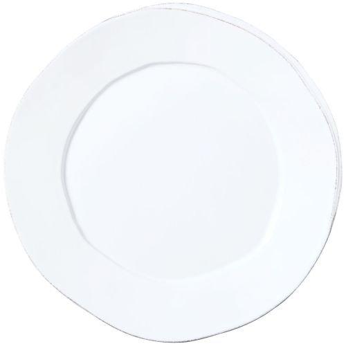 Vietri Lastra White Round Platter
