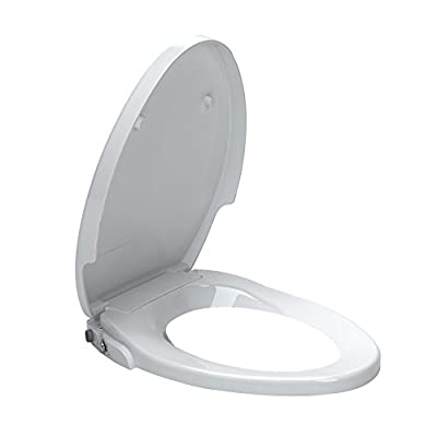 American Standard 5900A05G.020 Aquawash Non-Electric Bidet Seat for Elongated Toilets, White