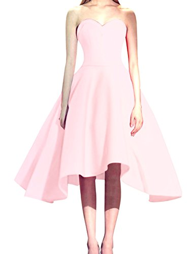 Bess Bridal Women's Sweetheart Lace Up Short Prom Party Homecoming Dresses US6 Blushing Pink ()