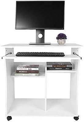Escritorio de la computadora, Mesa de madera plegable Mesa de ...