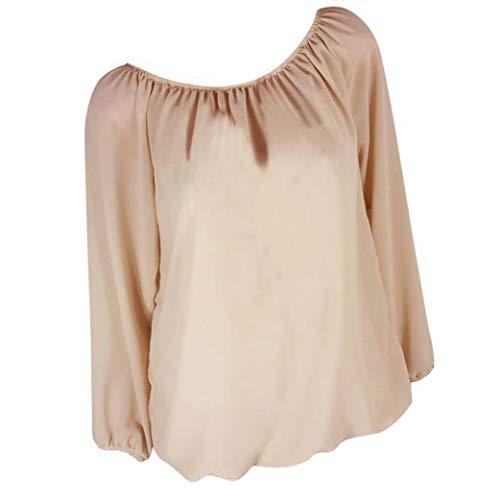 Taille Innerternet Loose Casual T Beige Manches Solides Shirts Femmes Grande Tunique Tops Tops Couleur Blouse Blouse Pure Longues 7wqWrH70