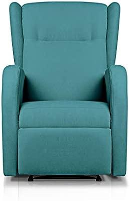 Sueños ZZZ | Sillon relax reclinable HOME tapizado tela antimanchas turquesa | Sillon reclinable butaca relax | Sillon orejero individual salon | ...