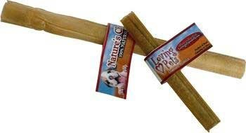 Loving Pets Dlv4725 20-Pack Natures Choice Natural Pressed Rawhide Sticks For Dogs, 10-Inch