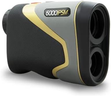 MGI Sureshot Pinloc 6000IPSM Golf Laser Rangefinder, Black-Grey-Gold